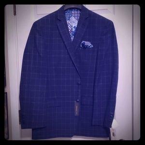 Navy WindowPane Sports Coat Blazer